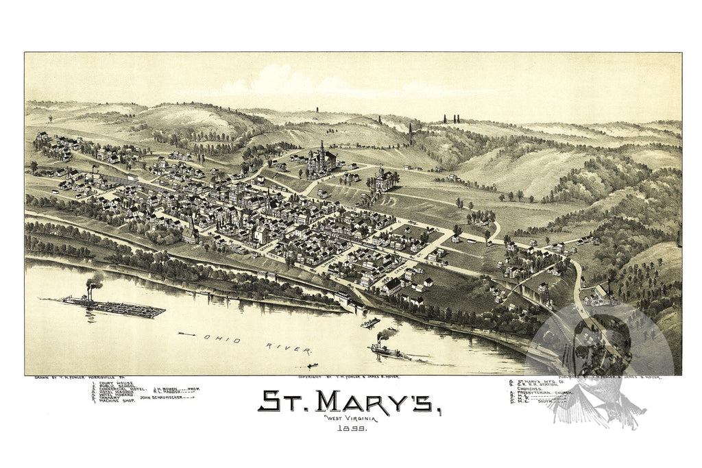 St. Mary's, WV Historical Map - 1899