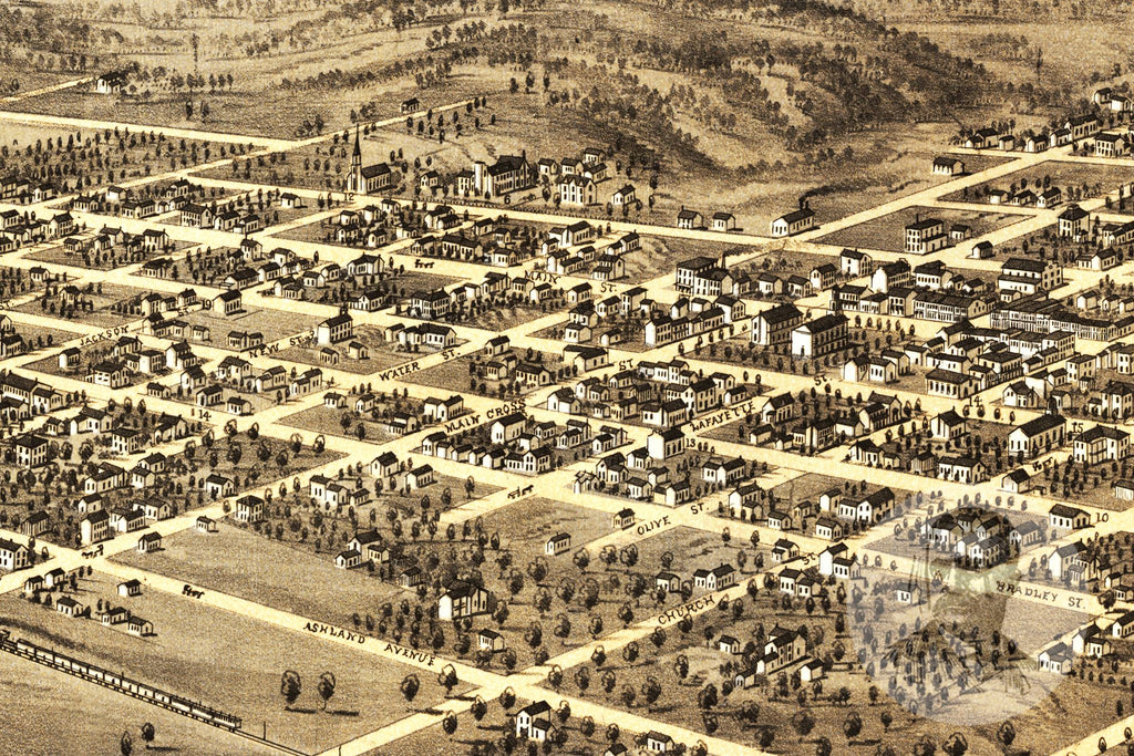 Palmyra, MO Historical Map - 1869