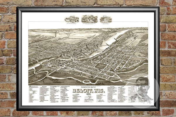 Beloit, WI Historical Map - 1890