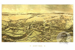 Quincy, MA Historical Map - 1878