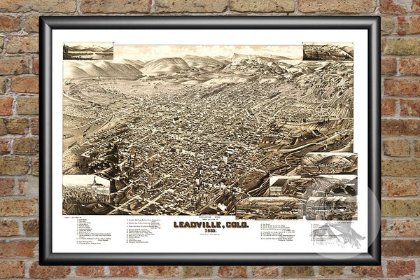 Leadville, CO Historical Map - 1882