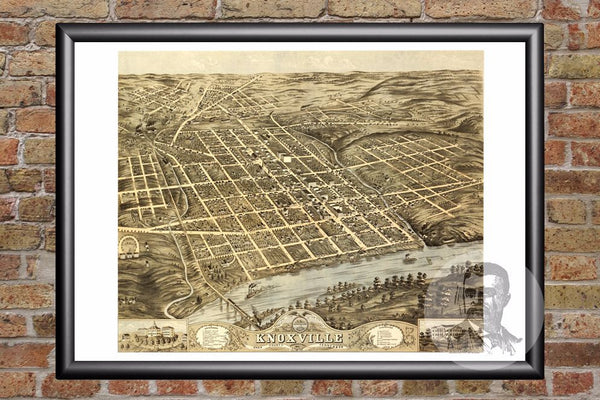 Knoxville, TN Historical Map - 1871