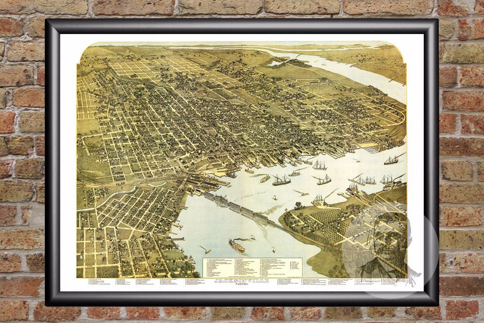 Jacksonville, FL Historical Map - 1893