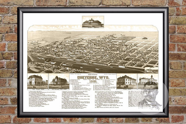 Cheyenne, WY Historical Map - 1882