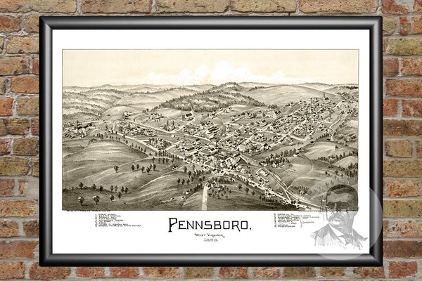 Pennsboro, WV Historical Map - 1899