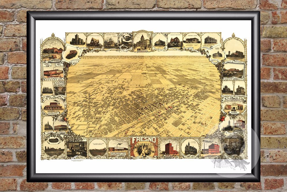 Fresno, CA Historical Map - 1901 - Ted's Vintage Maps