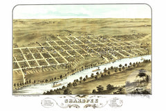 Shakopee, MN Historical Map - 1869