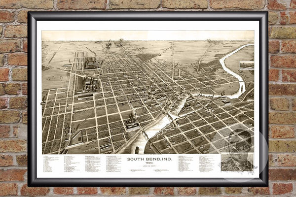 South Bend, IN Historical Map - 1890