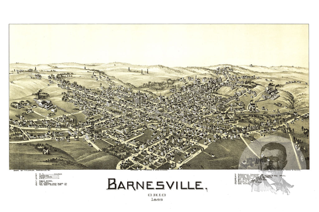 Barnesville, OH Historical Map - 1899 - Ted's Vintage Maps