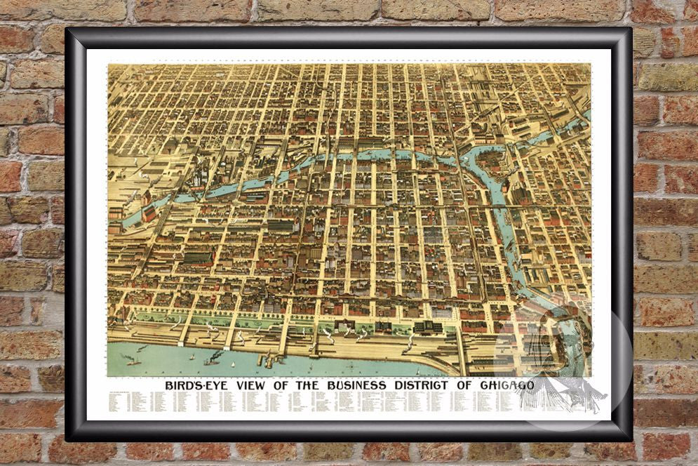 Chicago, IL Historical Map - 1898