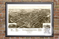 Tallahassee, FL Historical Map - 1885