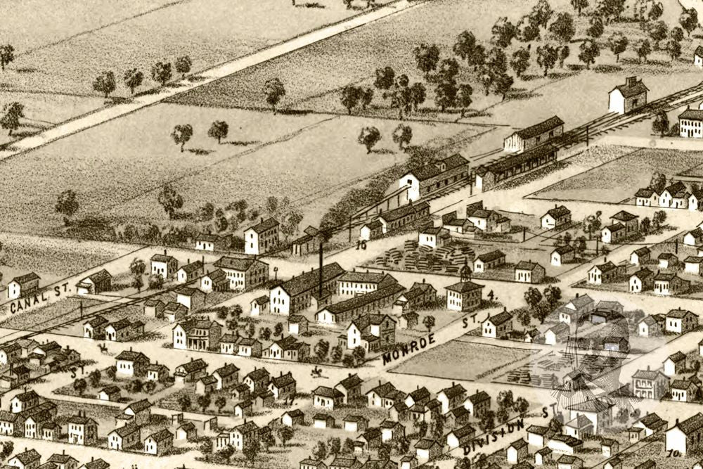 South Bend, IN Historical Map - 1866