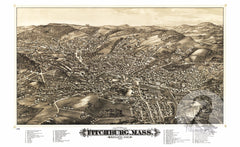 Fitchburg, MA Historical Map - 1882