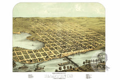 Hastings, MN Historical Map - 1867