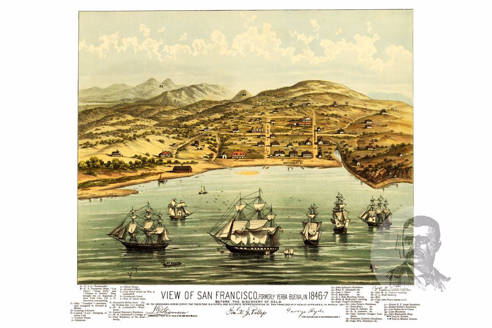 San Francisco, CA Historical Map - 1884