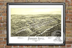 Forest City, PA Historical Map - 1889