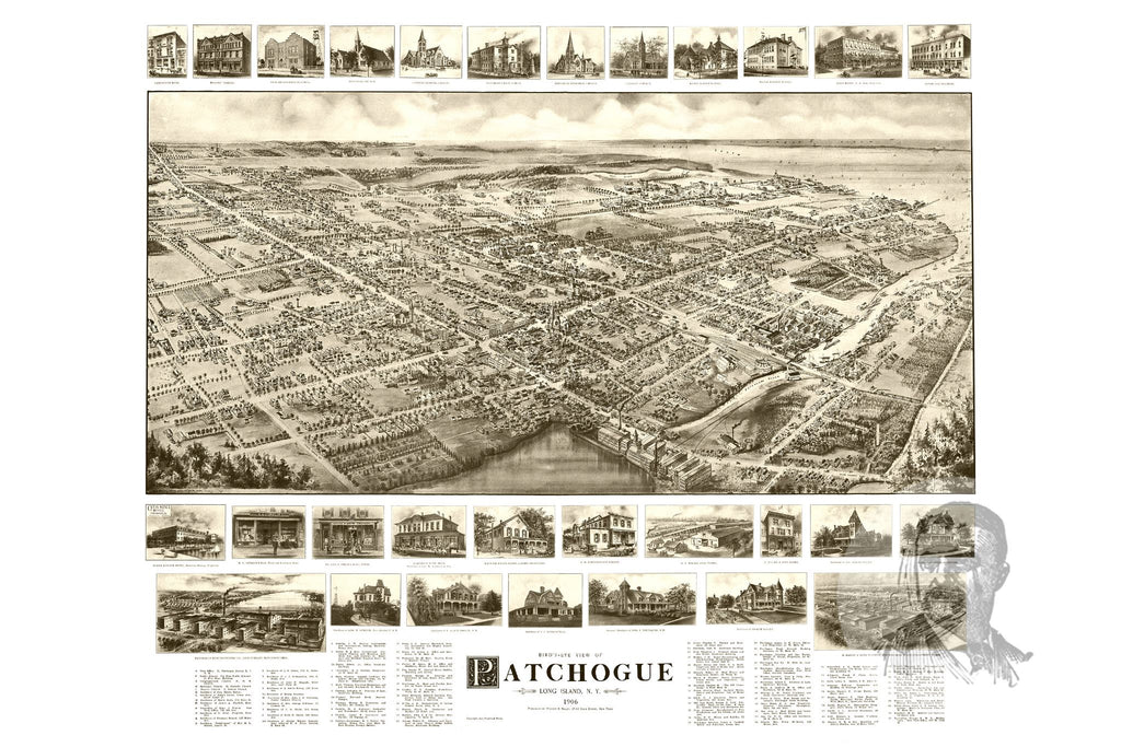 Patchogue, NY Historical Map - 1905