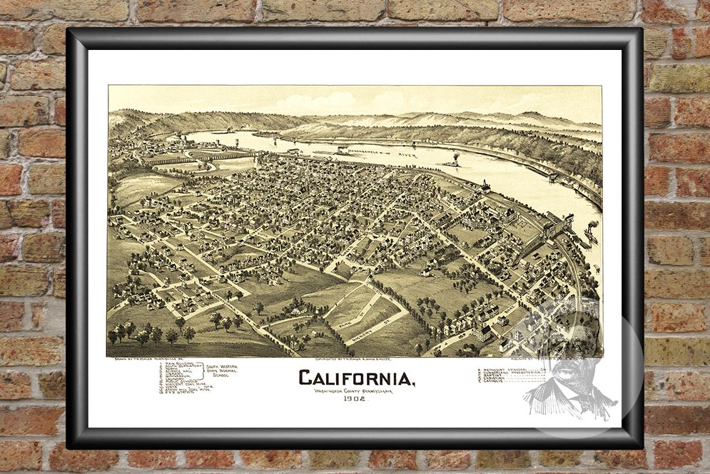 California, PA Historical Map - 1902 - Ted's Vintage Maps