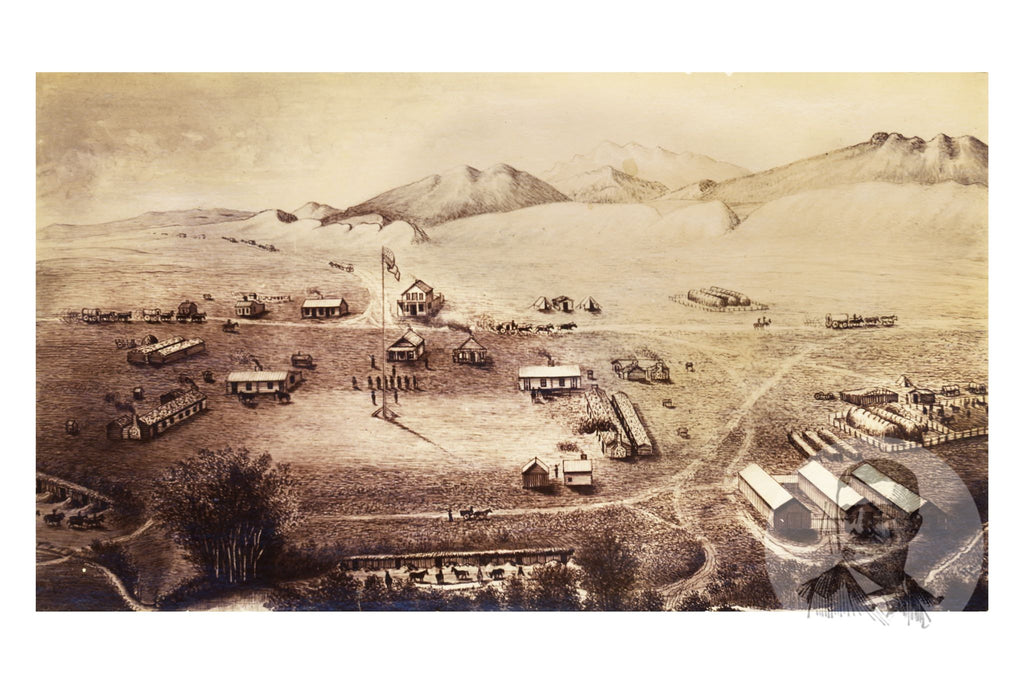 Fort Collins, CO Historical Map - 1865 - Ted's Vintage Maps