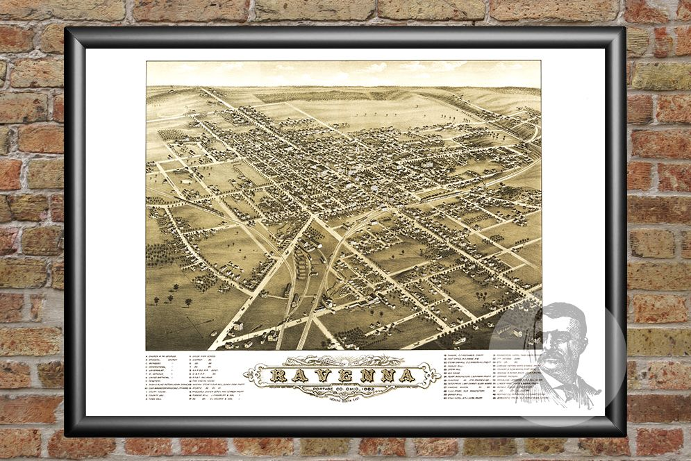 Ravenna, OH Historical Map - 1882