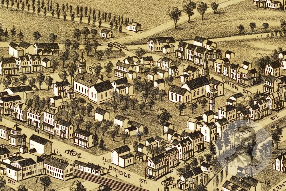 Morrisville, PA Historical Map - 1893