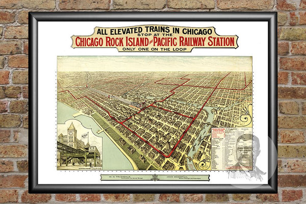 Chicago, IL Historical Map - 1897