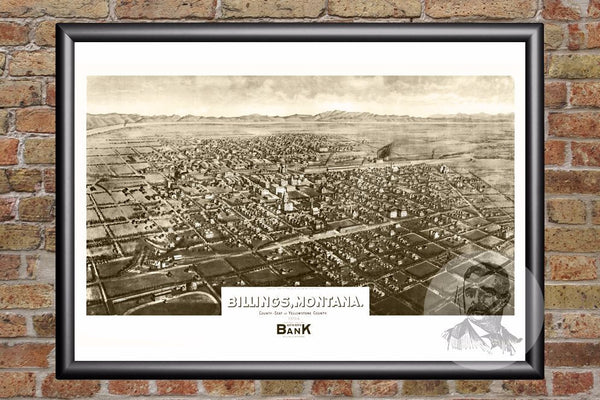 Billings, MT Historical Map - 1904