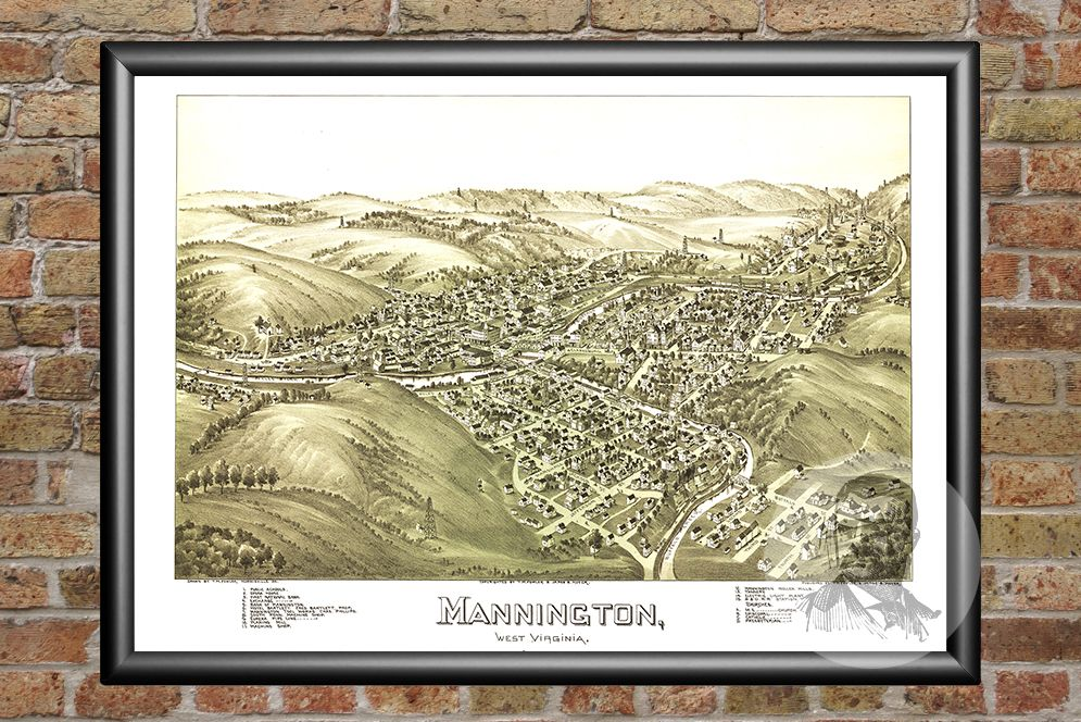 Mannington, WV Historical Map - 1897