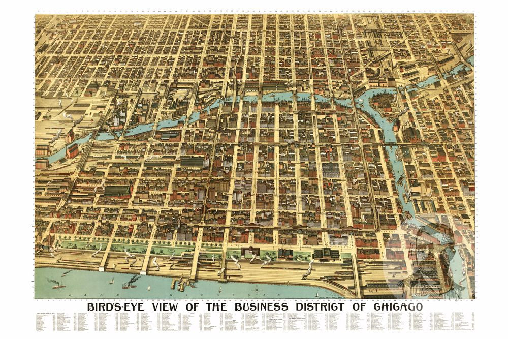 Chicago, IL Historical Map - 1898 - Ted's Vintage Maps