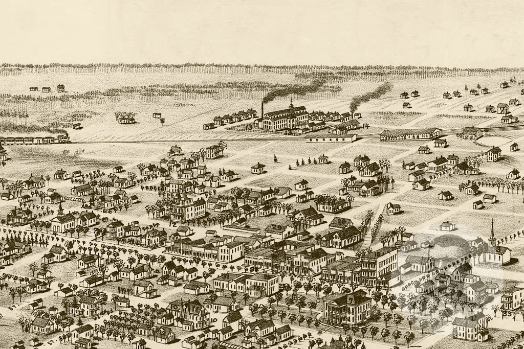 Quitman, GA Historical Map - 1885