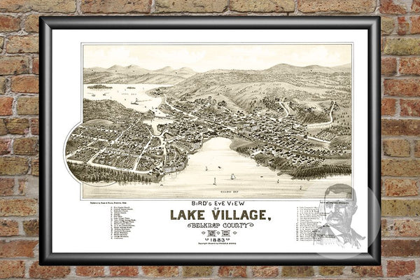 Lake Village, NH Historical Map - 1883