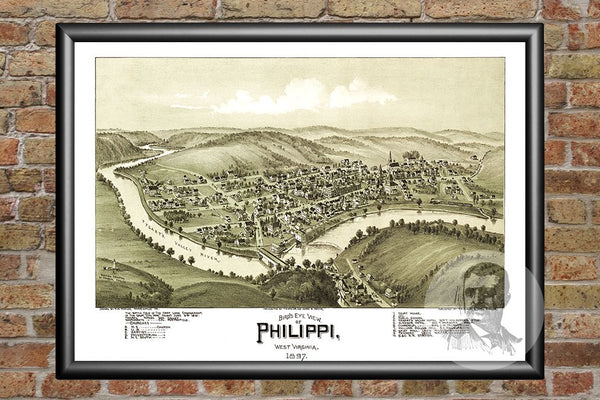 Phillippi, WV Historical Map - 1897