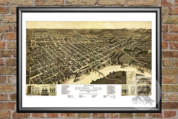 Selma, AL Historical Map - 1887