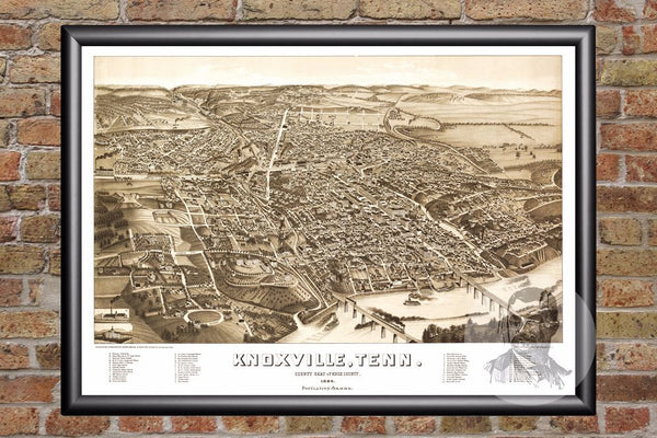 Knoxville, TN Historical Map - 1886