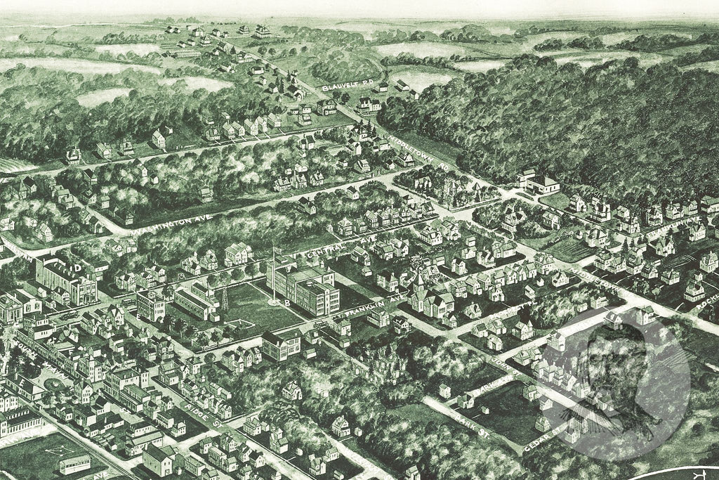 Pearl River, NY Historical Map - 1924