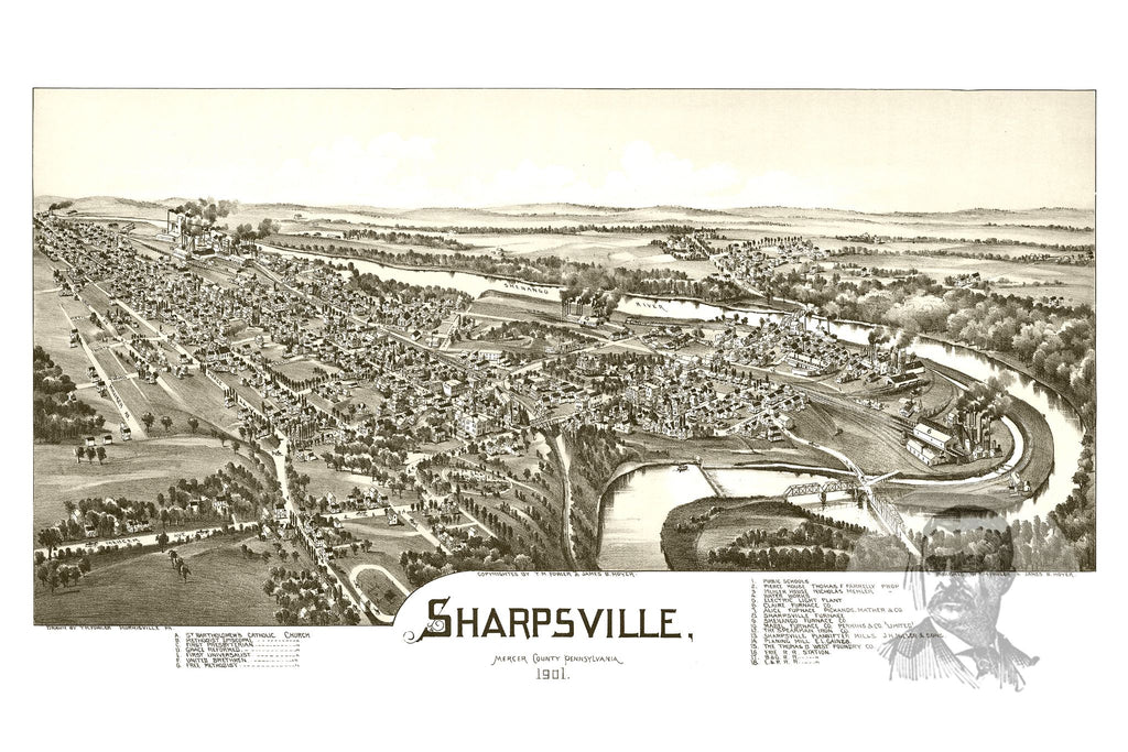 Sharpsville, PA Historical Map - 1901
