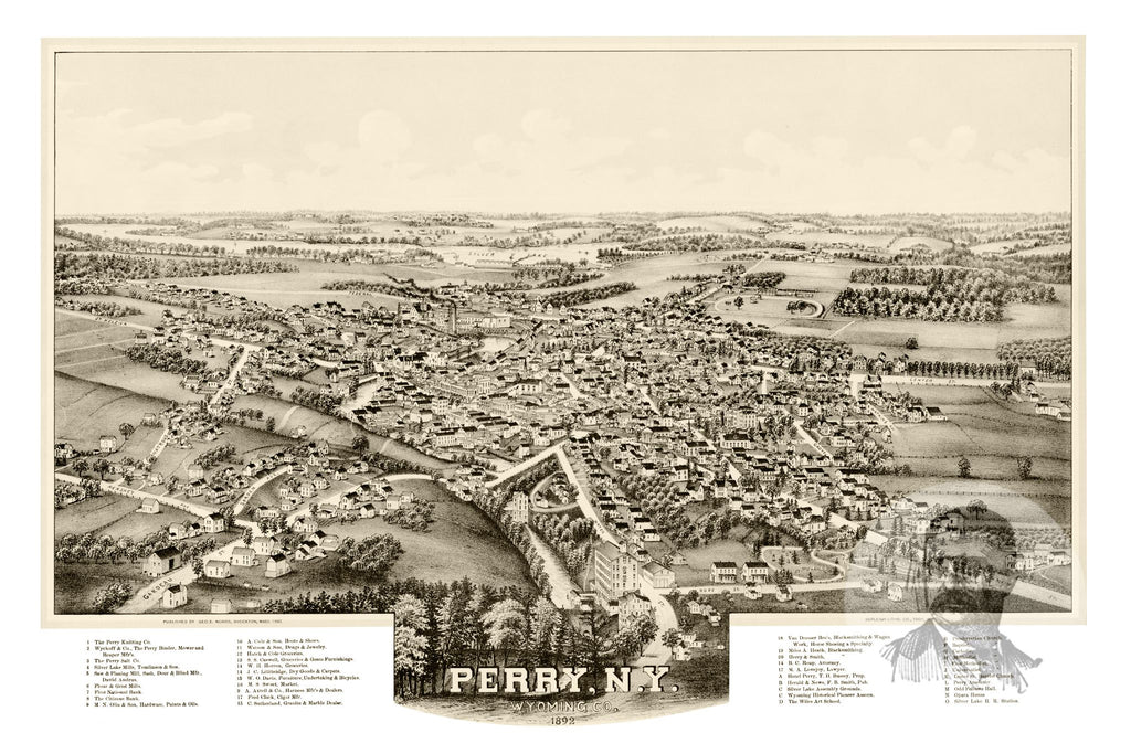 Perry, NY Historical Map - 1892