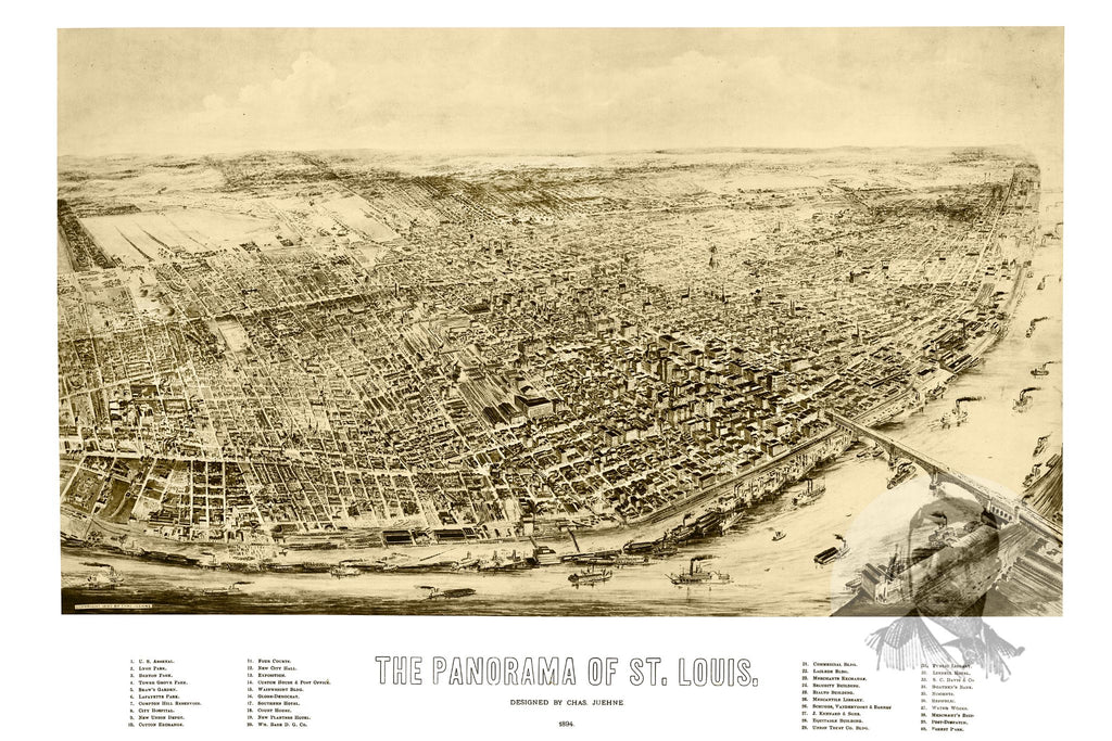 St. Louis, MO Historical Map - 1894