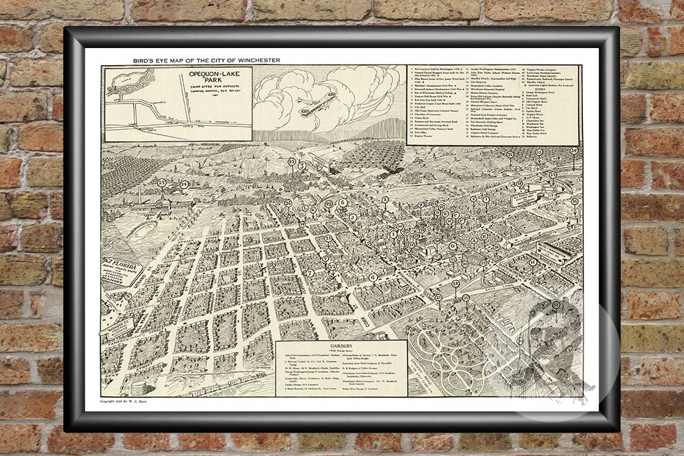 Winchester, VA Historical Map - 1926