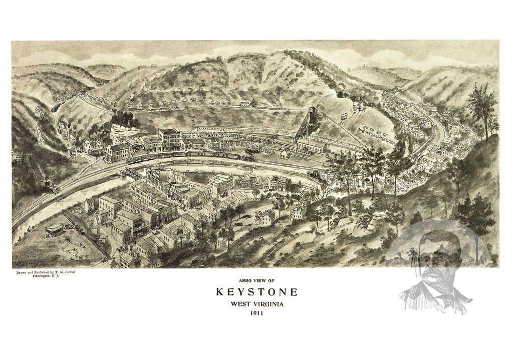 Keystone, WV Historical Map - 1911 - Ted's Vintage Maps