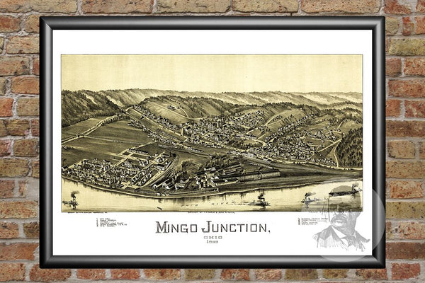 Mingo Junction, OH Historical Map - 1899