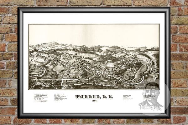 Warner, NH Historical Map - 1887