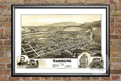 Hamburg, PA Historical Map - 1889