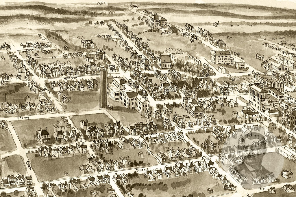 Statesville, NC Historical Map - 1907