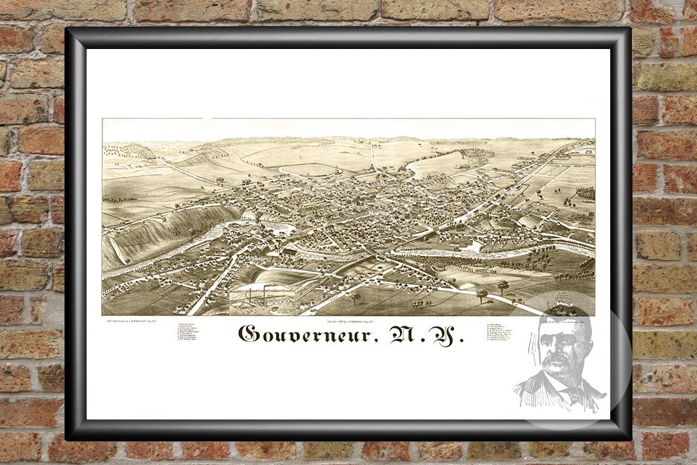 Gouverneur, NY Historical Map - 1885 - Ted's Vintage Maps
