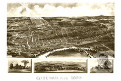Concord, NH Historical Map - 1899