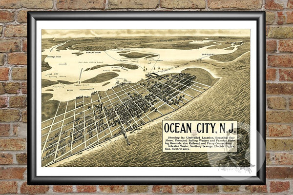 Ocean City, NJ Historical Map - 1903