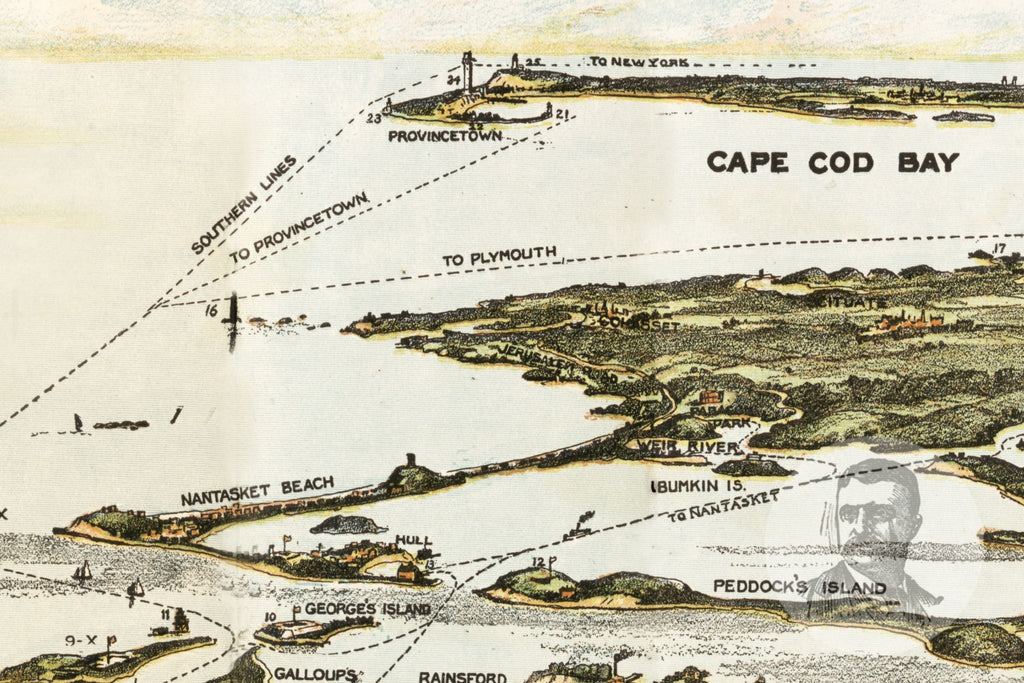 Boston Harbor, MA Historical Map - 1920 - Ted's Vintage Maps