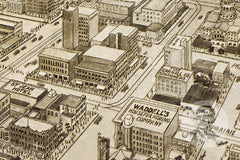 Houston, TX Historical Map - 1912