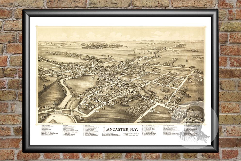 Lancaster, NY Historical Map - 1892